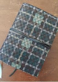 Green plaid journal